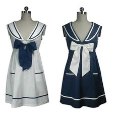 nautical wear for women | Re-stocked: Navy sailor Dress – Harajuku Girls Style | Cute, Cool ...