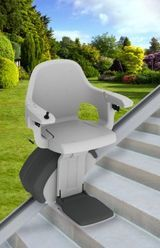 The HomeGlide Outdoor Stairlift for external stairs, is a new lift from Access BDD, a division of ThyssenKrupp Accessibility. Combining all of the features and functionality of an internal stairlift, the HomeGlide Outdoor has over 30 new components and more than 80 treated components combining to make a stairlift that is suitable for use throughout the year.