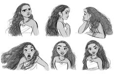 More Moana facial expressions.