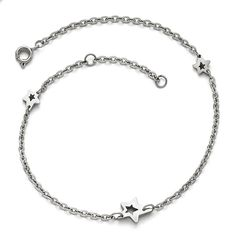 Stainless Steel Polished Stars with 1in extension Anklet 9 Inches Long >>> Read more at the image link.-It is an affiliate link to Amazon.