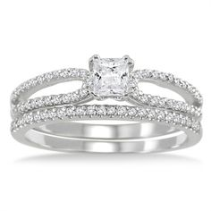 @Overstock - White diamonds bridal ring set10k white gold jewelryClick here for ring sizing guidehttp://www.overstock.com/Jewelry-Watches/10k-White-Gold-3-5ct-TDW-White-Diamond-Bridal-Ring-Set-I-J-I1-I2/7136755/product.html?CID=214117 $599.99