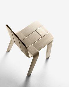 Alki Saski wooden chair by Jean Louis Iratzoki