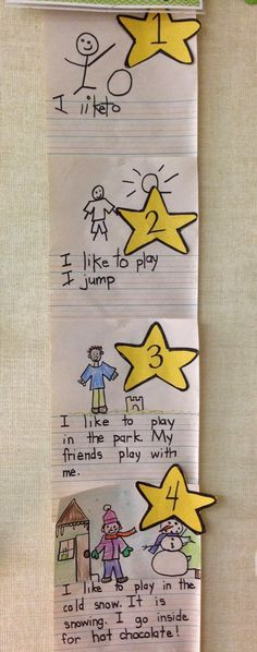 First Grade Fun- Visual 4 star writing and drawing rubric