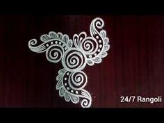 Rangoli Designs Latest, Indian Mehndi Designs, Simple Rangoli Designs Images, Rangoli Designs Flower, Rangoli Border Designs, Rangoli Ideas, Unique Mehndi Designs, Rangoli Designs Diwali, Rangoli Designs With Dots