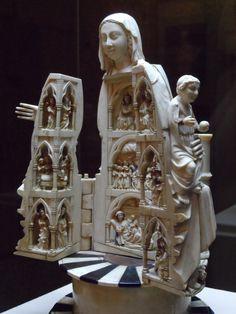 Virgen Abrideira. La joya del museo Medical Illustration, Illustration Art, Madonna, Art Roman, Religious Cross, Religious Architecture, Vintage Gothic, Bone Carving, Medieval Art