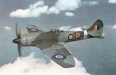The Hawker Tempest was a British fighter aircraft primarily used by the Royal Air Force (RAF) in the Second World War. The Tempest was an im. Ww2 Aircraft, Fighter Aircraft, Military Aircraft, Fighter Jets, Hawker Tempest, Hawker Typhoon, Hawker Hurricane, Old Planes, Supermarine Spitfire