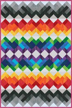 Rainbow Union Free Pattern: Robert Kaufman Fabric Company xxx