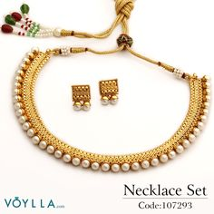 Add glamour to your traditional appearance with this delicate necklace! Product Code: 107293 #fashion #jewelry voylla.com  Necklaces