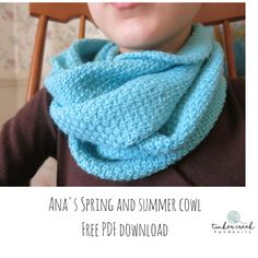 A simple and sweet free PDF download for a spring and summer cowl from Tinker Creek Handknits.