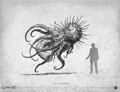Loïc Muzy - artwork: bestiaire Call of Cthulhu 7th edition - Éditions Sans-détour - Chaosium Inc - 2014