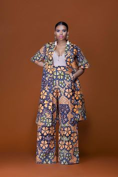 Feel awesome wearing Grass-fields African print pants, made from brilliant African fabric sourced from Cameroon. Indian Fashion Trends, African Fashion Designers, African Inspired Fashion, African Print Fashion, Africa Fashion, Modern African Fashion, African Print Pants, African Print Dresses, African Fashion Dresses