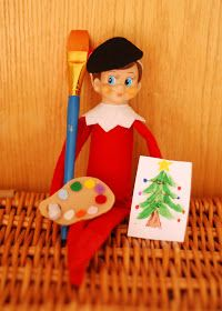 Cherishing the Inbetweens: Elf on the Shelf Day 17: Chippy the artist