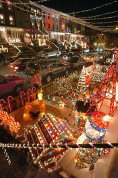 the miracle on street christmas lights display started in 1947 in the hampden neighborhood of baltimore md visited by thousands annually - Hampden Christmas Lights