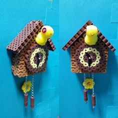 Cuckoo clock perler beads by riguccimonamour