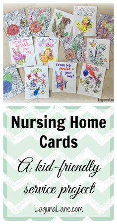 Nursing Home Cards - Service Project   Laguna Lane