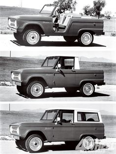 Bronco; wondering if it is one car you can use in three different ways, or if it are three different models of the same car...