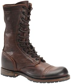 Vintage Shoe Company's Nathaniel Jump boot, WWII inspired paratrooper boot, very comfortable with great detailing.