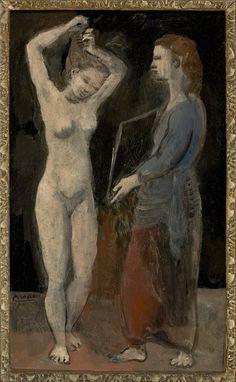 'Toalete (Fernande)' by Pablo Picasso, 1906. Oli on cardboard. MASP (Museu de Arte de São Paulo Assis Chateaubriand), Brazil.