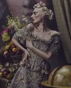 """Ornate Expectations"": Nina Porter in Baroque Fashion by Andrew Yee for How to Spend It"