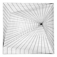 """Drawings """"Lineate I"""", Silkscreen by Roy Ahlgren - Artist: Roy Ahlgren, American - Title: Lineate I Year: 1969 Medium: Silkscreen, signed and numbered in pencil Edition: 100 Image Size: 17 x 17 inches Size: 20 x 20 in. 3d Art Drawing, Geometric Drawing, Art Drawings Sketches, Geometric Art, Drawing Tips, Illusion Drawings, Illusion Art, Art Optical, Optical Illusions"""