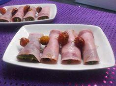 Cosas de Jorge: Rollitos de jamon dulce queso y berenjena