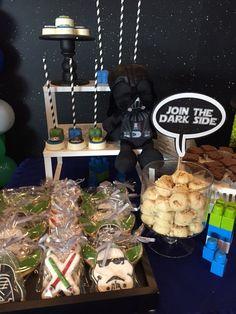 Star Wars. Join the dark side. Sugar cookies. Birthday.