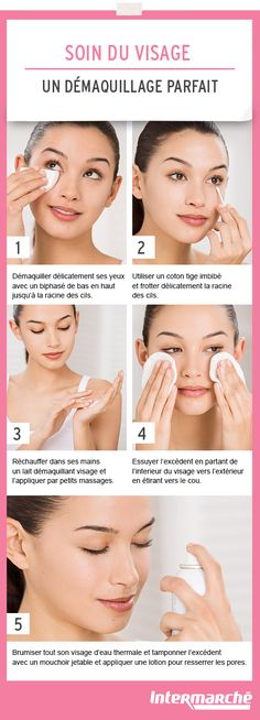 To take care of your skin here's how to make a perfect make-up removal. Beauty Tips For Face, Pure Beauty, Beauty Secrets, Beauty Care, Beauty And The Beast, Diy Beauty, Beauty Skin, Beauty Makeup, Beauty Hacks