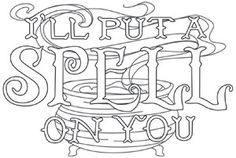 Tricks & Treats - I'll Put a Spell on You | Urban Threads: Unique and Awesome Embroidery Designs