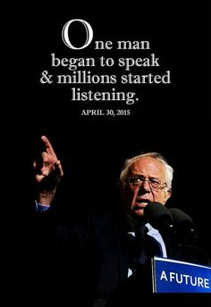 Thank you Senator Bernie Sanders- A lion in sheep's clothing. This is the man who knows what he's talking about. This is a man worth investing in. This is the man we should be listening to.