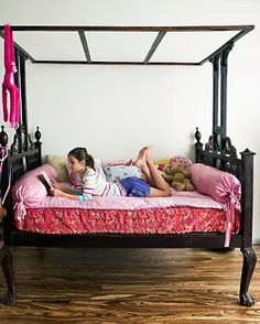 Style frame asian bed