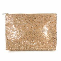 Spicer Bags Carryall Cork Clutch in Metallic Pebble Oversized Clutch, Flying Pig, Clutch Bag, Cork, Metallic, Bags, Handbags, Totes, Clutch Bags