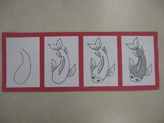 Miss Young's Art Room  how to draws coy fish... Perfect for the Chinese new year