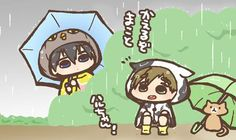 Drawn by nko_f ... Free! - Iwatobi Swim Club, haruka nanase, haru nanase, haru, nanase, haruka, makoto tachibana, makoto, tachibana, free!, iwatobi