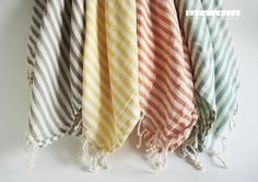 Turkish BATH Towel Peshtemal  Blue No1 by bathstyle on Etsy, US$24.50 - must get some for summer