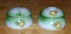 Vintage dresser set Bavaria ceramic powder by OnPointCollectibles