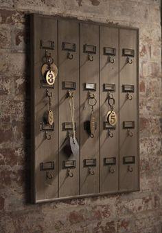 "crumpledenvelope: "" Hotel Key Rack """