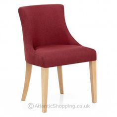 Our Lorenzo Oak Chair Red Fabric will pair beautifully with Valentine's style decor.