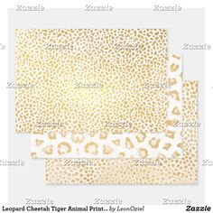 Shop Leopard Cheetah Tiger Animal Print Metallic Gold Foil Wrapping Paper Sheets created by LeonOziel. Metallic Gold, Gold Foil, Silver, Pet Tiger, Foil Paper, Paper Crafts, Diy Crafts, Creative Gifts, Cheetah