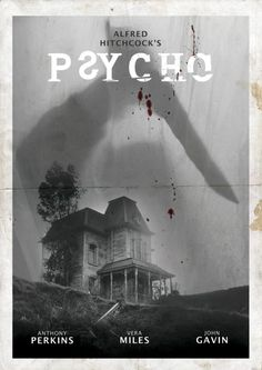 Psycho ~ Starring: Anthony Perkins, Janet Leigh and Vera Miles An Alfred Hitchcock Film. Halloween Movies, Scary Movies, Old Movies, Vintage Movies, Indie Movies, Classic Movie Posters, Classic Horror Movies, Classic Movies, Horror Movie Posters