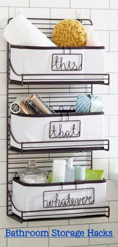 Bathroom Shelves - Beautiful and Easy DIY Bathroom Space Saver Shelving Ideas Small Bathroom Shelves, Simple Bathroom, Bathroom Storage, Storage Hacks, Storage Ideas, Rustic Bathrooms, Floating Shelves, Shelving, Easy Diy
