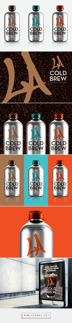 LA Cold Brew coffee by David Cox. Source: Bechance. Pin curated by #SFields99 #packaging #design #inspiration #ideas #innovation #branding #product #structural