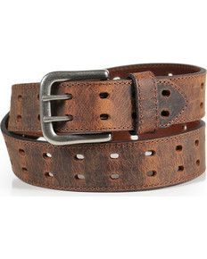 USA Made By Amish Men/'s Double Prong Full Grain Heavy-Duty Leather Belt 2 Hole