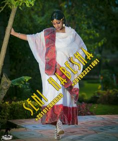 Habesha Dress. Eritrean & Ethiopian traditional dress. Konjokonjo.com Ethiopian Traditional Dress, Traditional Dresses, Ethiopian Dress, African Fashion, African Style, Eritrean, Modern Outfits, International Fashion, Hand Weaving
