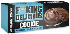 Allnutrition F**king delicious cookie double chocolate 128g Brownie Cookies, Yummy Cookies, Shortbread, Bodybuilder, Best Sugar Substitute, Protein, Double Chocolate Brownies, Rapeseed Oil, Weight Loss Supplements