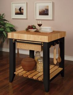 A way to refinish an old butcher block for a kitchen island
