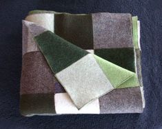 Felted Sweater Quilt | Recycled sweater felted patchwork blanket | Upcycle me
