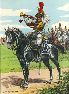 1st Empire French 7th Regt of Cuirassiers Trumpeter