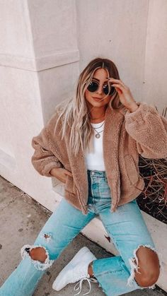 Casual School Outfits, Cute Fall Outfits, Casual Winter Outfits, Winter Fashion Outfits, Cute Fashion, Stylish Outfits, Cool Outfits, Fall College Fashion, Layered Summer Outfits