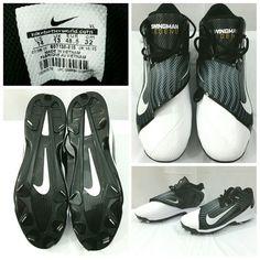 cd532ab947c Nike Air Swingman Legend Griffey Baseball Cleats 807130 Size 14 Black White  NWOB