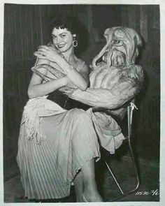"""Gloria Talbott onset #BehindTheScenes of I Married a Monster from Outer Space…"